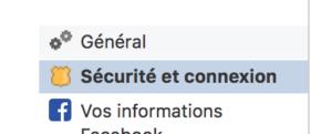 sécurité et connexion facebook